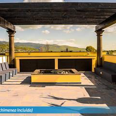 Casa en San Miguel de Allende. Villa Golden: Terrazas de estilo  por VillaSi Construcciones