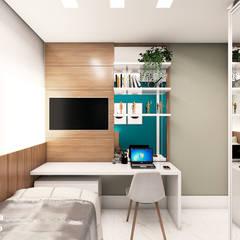 غرف نوم صغيرة تنفيذ Juliana Castro Arquitetura