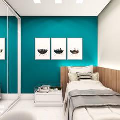 Cuartos pequeños de estilo  por Juliana Castro Arquitetura