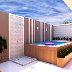 Área Gourmet e Piscina: Piscinas  por Juliana Castro Arquitetura