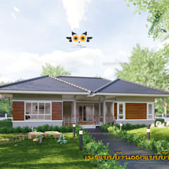 Projekty,  Dom jednorodzinny zaprojektowane przez แบบบ้านออกแบบบ้านเชียงใหม่