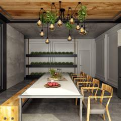Rita İç Mimarlık – mutfak:  tarz Ofis Alanları