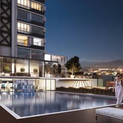 Lotus Mimarlık/Architecture – Platinum Adana:  tarz Havuz