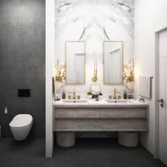 Lotus Mimarlık/Architecture – Mersin Villa:  tarz Banyo, Modern