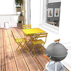 Balcón de estilo  de Der Schlüssel zum Glück - Interior Design