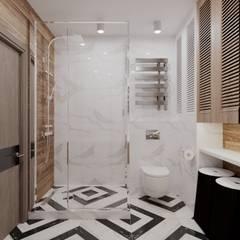 Проект ЖК на Типанова 26: Ванные комнаты в . Автор – EM design