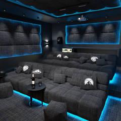 Cinema Dream: styl , w kategorii Pokój multimedialny zaprojektowany przez MOONFIELD STUDIO