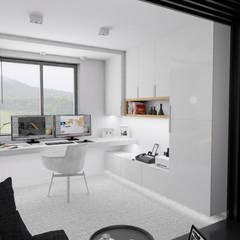 Homework: styl , w kategorii Domowe biuro i gabinet zaprojektowany przez MOONFIELD STUDIO