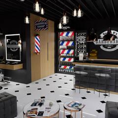 Barbershop: styl , w kategorii Powierzchnie handlowe zaprojektowany przez MOONFIELD STUDIO