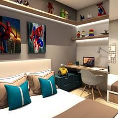 Dormitório Menino CF l 27: Quartos dos meninos  por A+G Arquitetas