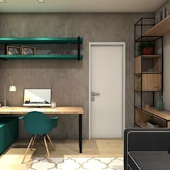 Study/office by A+G Arquitetas, Industrial