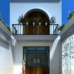 Garden Pool by SG Huerta Arquitecto Cancun , Colonial Tiles