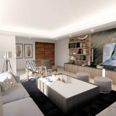 Sala-Estancia: Salas de estilo  por Zayas Group