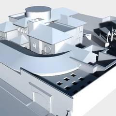 Casa Rotonda : Villas de estilo  por SG Huerta Arquitecto Cancun , Clásico Caliza