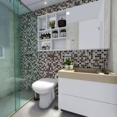 Apto Vila Mariana: Banheiros  por L.R. ARQUITETURA  OBRAS  INTERIORES