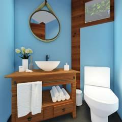 Residência Serra da Cantareira: Banheiros  por L.R. ARQUITETURA| OBRAS| INTERIORES