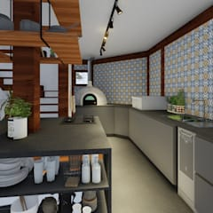 Small kitchens by L.R. ARQUITETURA| OBRAS| INTERIORES