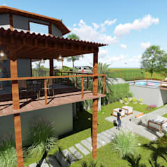Terrace by L.R. ARQUITETURA| OBRAS| INTERIORES, Rustic