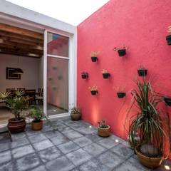 21. CASA LOMAS VERDES: Paredes de estilo  por TARE arquitectos