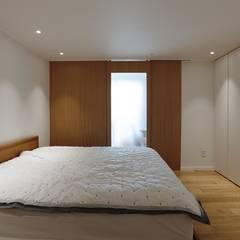 세미클래식과 내추럴이 만나다_분당 두산위브트레지움인테리어: 더집디자인 (THEJIB DESIGN)의  침실,클래식