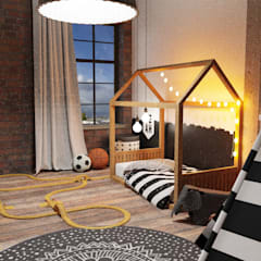 Industrial style nursery/kids room by Der Schlüssel zum Glück - Interior Design Industrial