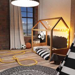 Dormitorios infantiles de estilo  por Der Schlüssel zum Glück - Interior Design, Industrial