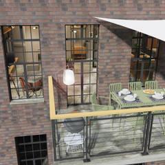 Balcón de estilo  por Der Schlüssel zum Glück - Interior Design