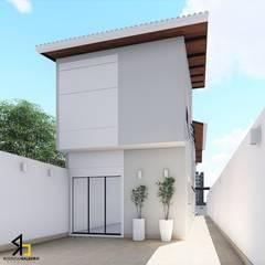 Residência Massayuki : Garagens e edículas  por Arquiteto Rodrigo Baleeiro