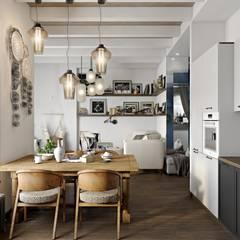 ЭТНИЧЕСКИЕ МОТИВЫ: Кухни в . Автор – Дизайн студия Алёны Чекалиной