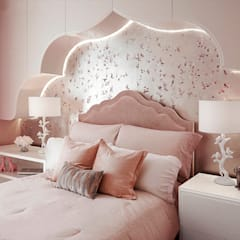 Girls' Bedroom - 86th Street New York:  Nursery/kid's room by Joe Ginsberg Design