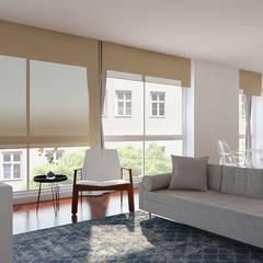 Sala Integrada de 3 ambientes: Salas de estar  por EasyDeco Decoração Online
