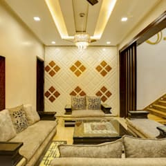 Residence Mr. Hardeep:  Living room by Studio Ezube