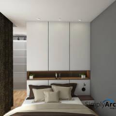 Proyek Desain Interior untuk Client di Cirebon:  Kamar Tidur by Simply Arch.