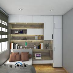 Proyek Desain Interior untuk Client di Cirebon: Kamar Tidur oleh Simply Arch.,
