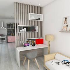 اتاق نشیمن توسطSimply Arch.