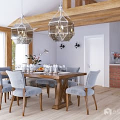 Dining room by Архитектурная студия 'АВТОР'