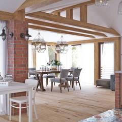 Столовая, вид из зоны барбекю: Столовые комнаты в . Автор – Архитектурная студия 'АВТОР'