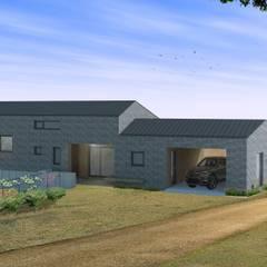 신두리 해변의 집 -'서리재': (주)건축사사무소 더함 / ThEPLus Architects의  목조 주택