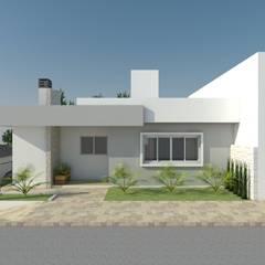 PROJETO RESIDENCIAL: Casas pequenas  por GUSTAVO BOSCHETTI ARQUITETURA