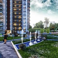 Çalık Konsept Mimarlık – Çalık Park Sitesi:  tarz Bahçe süs havuzu, Modern