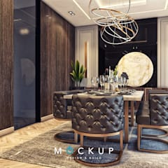 Dining room by 	 Mockup studio