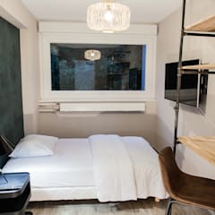 Rénovation et aménagement d'un appartement nancéien: Petites chambres de style  par Anne-Laure DESIGN