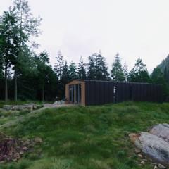 منزل جاهز للتركيب تنفيذ Module dom, إسكندينافي خشب Wood effect