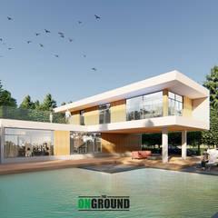 Casas multifamiliares de estilo  por The OnGround บริษัทรับสร้างบ้านสไตล์ Modern Japanese