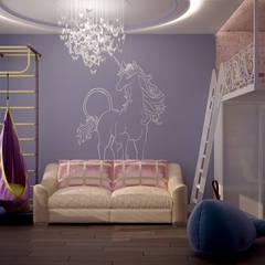 Дизайн детской в квартире (2 вариант) по ул. Дальняя, г.Краснодар: Детские комнаты в . Автор – Студия интерьерного дизайна happy.design