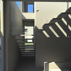 Conjunto de residencias Damero 3D: Condominios de estilo  por EnTRE+