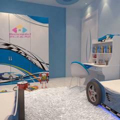Projekty,  Pokój dla chłopca zaprojektowane przez ديكور ابداع