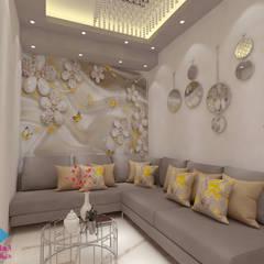 :  غرفة المعيشة تنفيذ ديكور ابداع