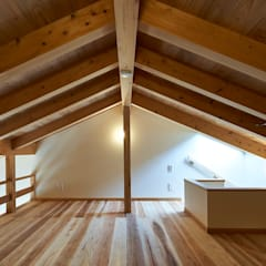Techos de estilo  por タイラ ヤスヒロ建築設計事務所/yasuhiro taira architects & associates