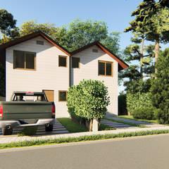 CASA PAREADA 2A , ARAUCANIA: Casas pequeñas de estilo  por AOG